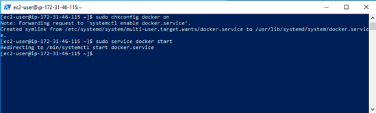 yum: konfigureres Docker til at starte automatisk ved server genstart